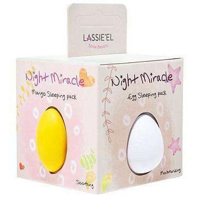 Mask - [Lassie'el] Night Miracle KIT (1pack = 8ea) [28g x 10pcs] - Набор ночных крем-масок - Adelline Beauty
