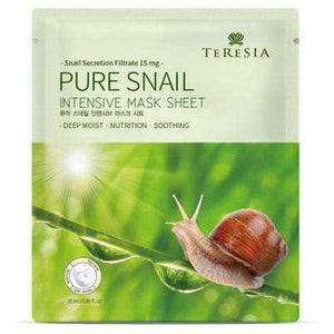 Mask - [Teresia] Pure Snail Mask Sheet [25ml*10] - Маски с муцином улитки - Adelline Beauty