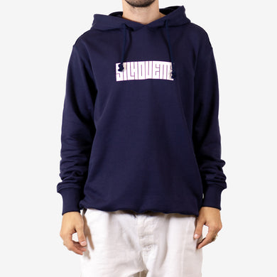 Silhouette Classic Logo Hoodie Navy