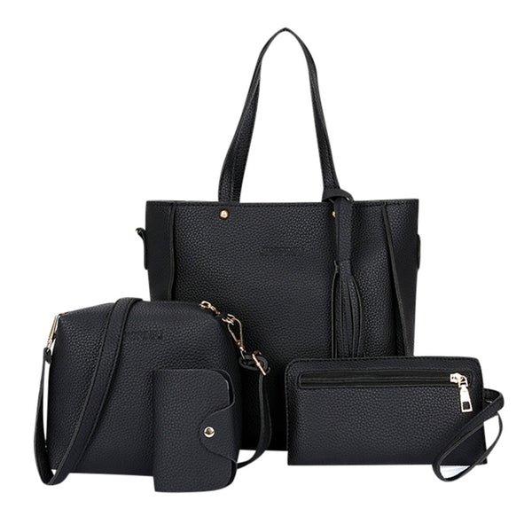 4pcs Women Leather Bag Set - Bags & Wallets - Proshot Bazaar