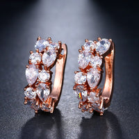 Luxury Rose Gold & White Gold Color Earrings - Earrings - Proshot Bazaar