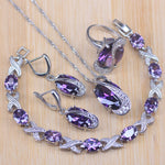 925 Sterling Silver Purple Jewelry Set - Necklaces - Proshot Bazaar