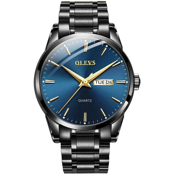 OLEVS Luxury Stainless Steel Waterproof Business Men Quartz Watch - Watches - Proshot Bazaar
