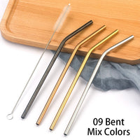 Colorful 304 Stainless Steel Reusable Straws - Home & Kitchen - Proshot Bazaar