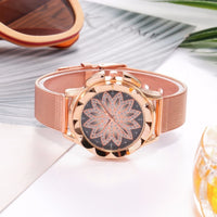 VANSVAR Fashion Rose Gold Flower Rhinestone Quartz Watch - Watches - Proshot Bazaar
