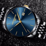 ON THE EDGE 1853 Stainless Steel Waterproof Business Men Quartz Watch - Watches - Proshot Bazaar