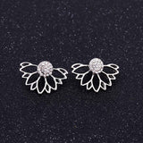Korean Zircon Pearl Heart Crystal Flower Angel Wings Geometry Stud Earrings For Women - Earrings - Proshot Bazaar