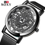 SOXY Skeleton Mesh Band Quartz Watch - Watches - Proshot Bazaar