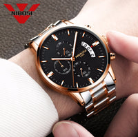 NIBOSI 1985 Chronograph Waterproof Coated Glass Luminous Quartz Men's Watch - Watches - Proshot Bazaar