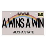 HI License Plate Sticker