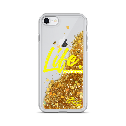 Life. Liquid Glitter Phone Case