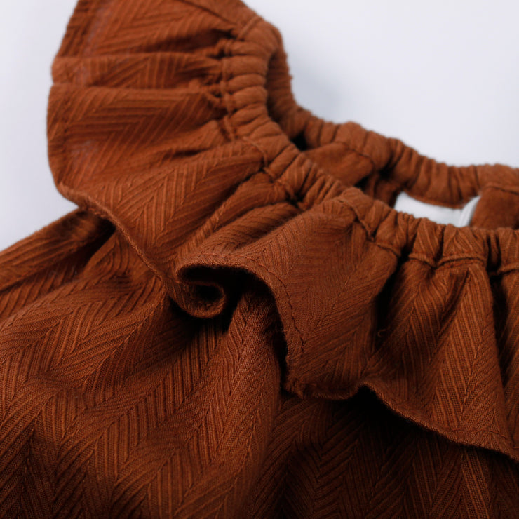 Woven Sleeveless Body Ochre