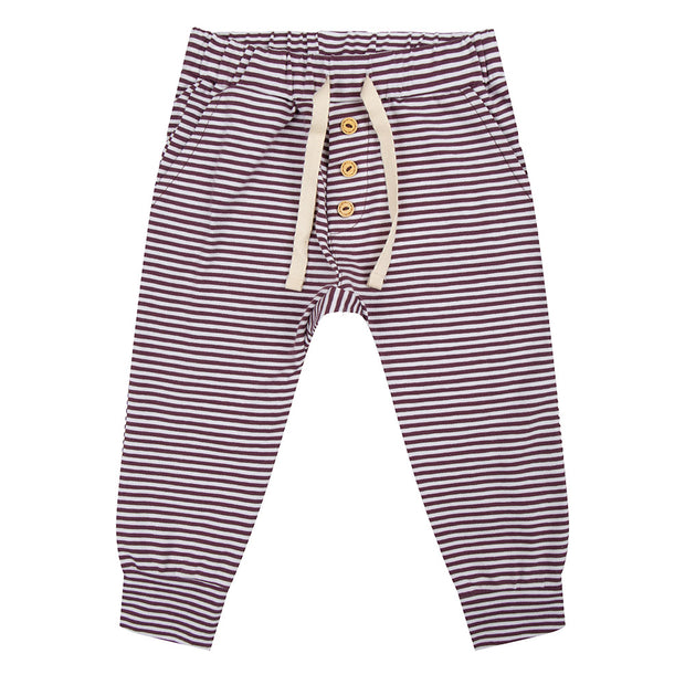 Pants Purple Stripe