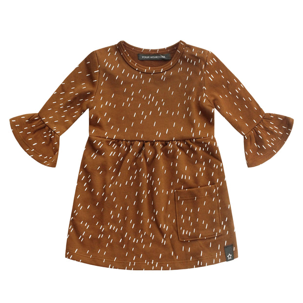 Ruffle Dress Rainy Camel