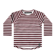Raglan Longsleeve Wine Stripes