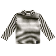 Beige Stripes Turtleneck
