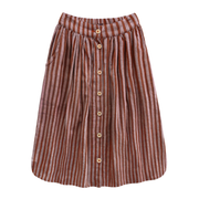 Rusty Stripes Button Long Skirt