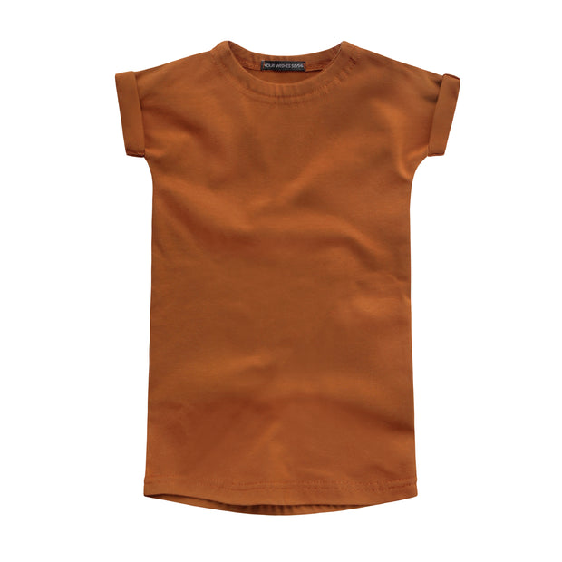 Cognac Jersey Boxy Dress