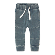 Knitted Denim Seam Jogging