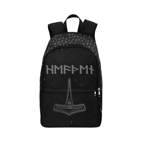 Asatru Heathen Back Pack Mjolnir Hammer of Thor Runic Waterproof Backpack