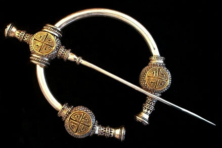 Bramble Brooch - Handcrafted Sterling Silver & Brass Viking Brooch