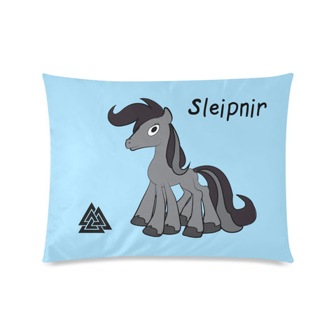 Sleipnir Odin's Horse Asatru Kids Pillowcase with Valknut