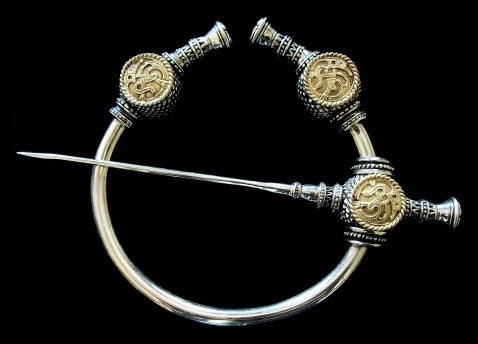Viking Thistle Brooch - Handcrafted Sterling Silver Viking Brooch