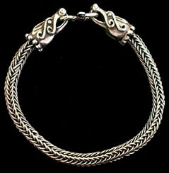 Viking Plait Bangle - Hand-plaited Sterling Silver Bangle