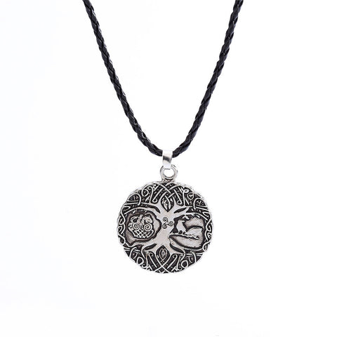 Yggdrasil Tree of Life Knotwork Asatru Odinist Heathen Pendant Necklace