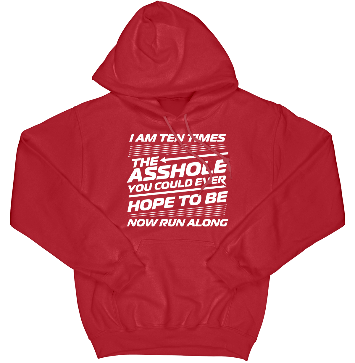 I Am Ten Times the Asshole Hoodie