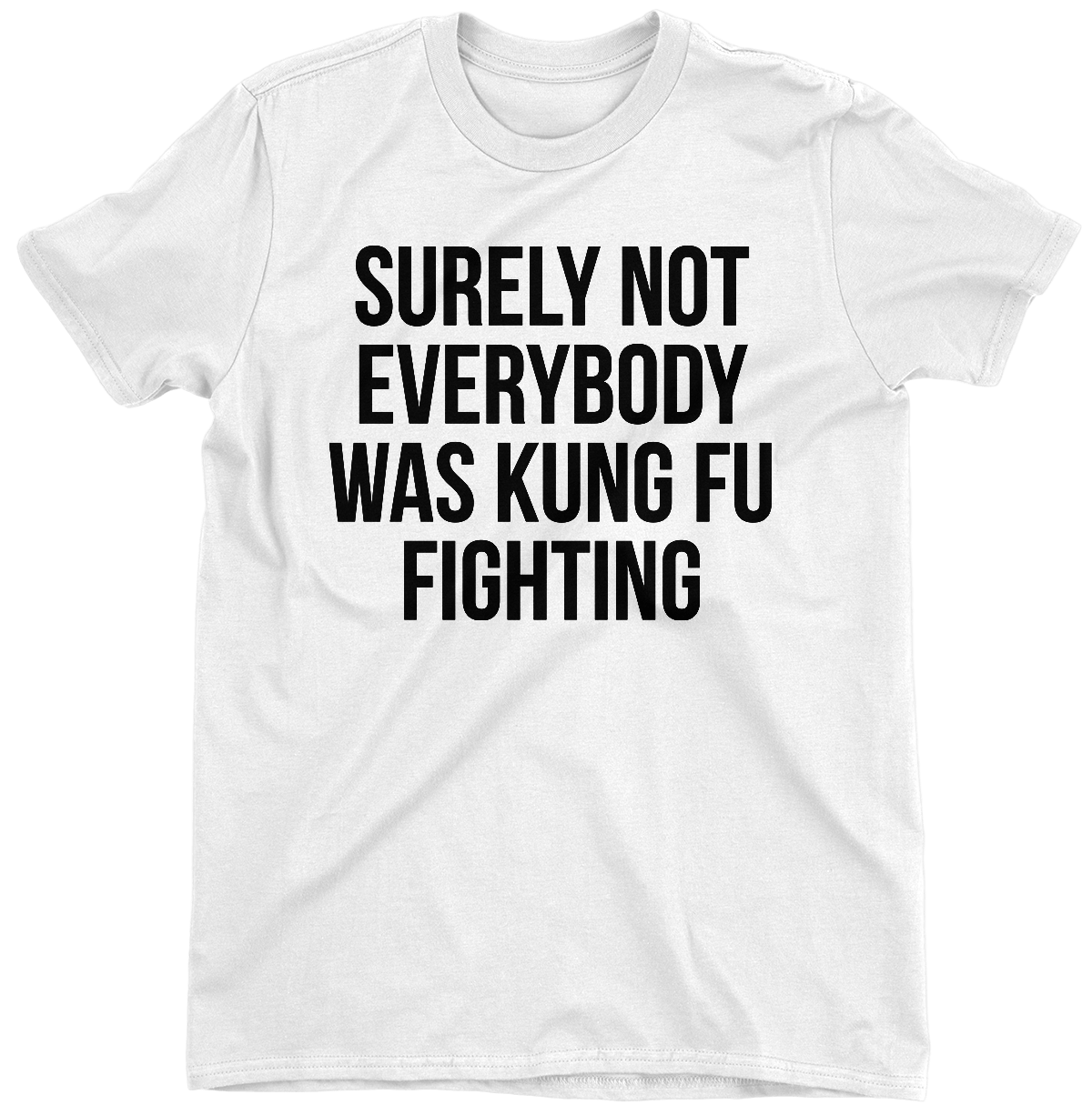 665855b25 Surely Not Everybody Was Kung Fu Fighting T-Shirt – The GuyHumor Shop