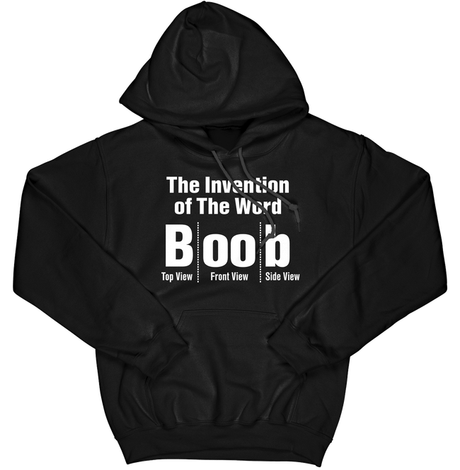 The Invention of the Word Boob Hoodie