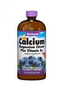 Liquid Calcium Magnesium Citrate Plus Vitamin D3 - 16oz