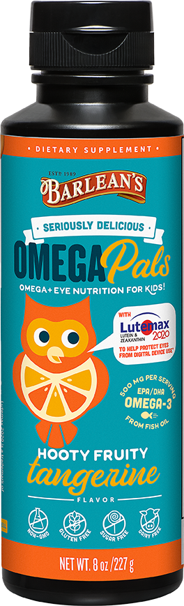 Omega Pals Hooty Fruity Tangerine Fish Oil + Eye Nutrition