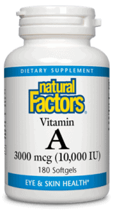 Vitamin A 10,000 IU - 180ct