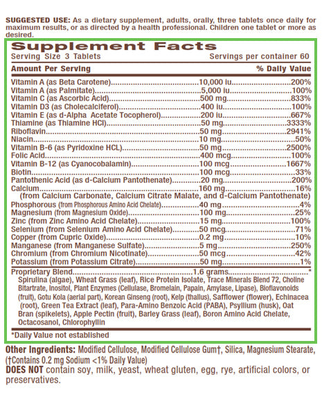 Advanced Energy Support Multi-Vitamin & Mineral - 90ct