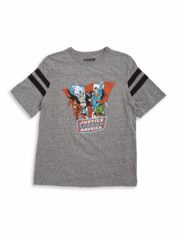 Hybrid Promotions Boys Justice League Varsity Tee