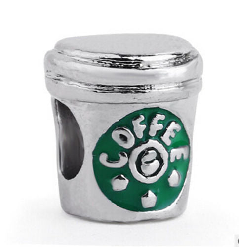 925 Silver Coffee Cup Charm