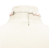 FOREVER 21 O-Ring Studded Faux Leather Choker