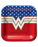 American Greetings Wonder Woman 8 Count Dessert Square Plates