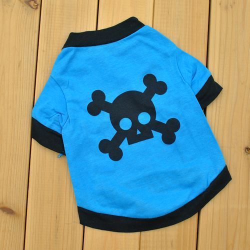 Blue Skull Tee for Dogs