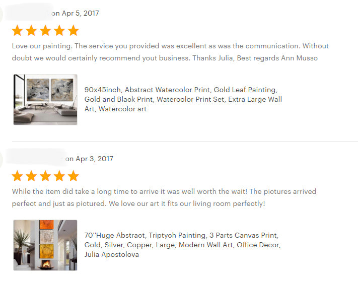 reviews, happy clients, testimonials, abstract art, original painting, canvas print, julia apostolova, interior, decor, home, office, photo
