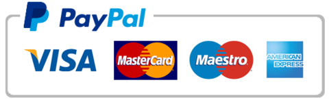 paypal, visa, master card, maestro, american express, accept credit and debit cards