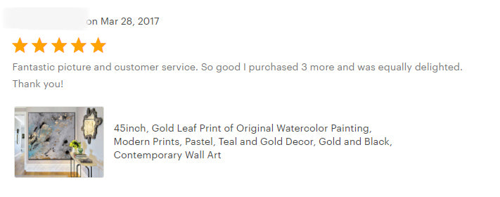 gold leaf art painting julia apostolova gold black gray teal interior happy clients review home decor