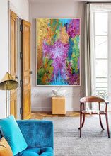The beginning, Painting, Colorful Art, Julia Apostolova, Abstract Art, Splash Art, Large Wall Art, Abstract Painting, Print, Canvas Print, Ready to Hang, decor, interior, home decor, design, modern