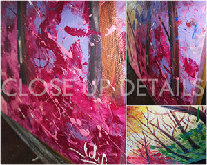 Forest Painting, Huge Original Painting Abstract Forest Art, Spring Decor, Colorful Landscape, Trees, Colorful Wall Art, Bold Colors, Rich Textures, Ready to Hang, Floating Frame, pop color, living room, Original Abstract Oil Painting, artist Julia Apostolova, dining room, master bedroom art, kids wall art decor, lobby decor, colorful abstract, oil painting, huge art, interior design ideas, interior decor, pop decor, pop wall art, livingroom decor, art gift for her, large art, giant art, artwork, splash art