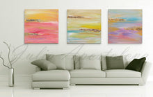 Gold Blue Purple Abstract Print, Minimalist Painting, Large Wall Art, Gold Leaf, Part 3 of Triptych