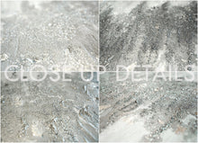 Silver Glitter Art Abstract Minimalist Original Painting Silver Leaf Elegant Art ''Moonlight Dust''