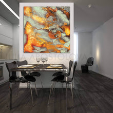 Autumn Decor, Large Wall Art, Modern Abstract Painting, Square, Canvas Print, Autumn Spirit, Julia Apostolova, Gold Leaf, Gold, Copper, Gray, Abstract Painting, Watercolor Abstract, Canvas Print, Modern Wall Decor, Julia Apostolova, Extra Large Wall Art, Abstract Painting, Canvas Print Gold, Julia Apostolova, interior, design, home decor, lobby, hotel lobby decor, bedroom, livingroom, restaurant decor, reastaurant, interior designer, art collector