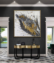 White Black Original Painting, Gold and Silver Leaf, Luxury Interior Art ''Believe In Yourself'', Huge Painting, black, gold leaf art, Abstract Silver Leaf, original art, uxury, Julia Apostolova, White and Gold, Original painting, Luxury decor, Wall art, original painting, glam, modern decoration, interiors, Minimalart, Pinterest Contemporary art, abstract art, luxury homes, modern, trendy, artwork, Livingroom decor Llarge wall art, mixed media art, canvas, acrylic, julia apostolova art, huge art